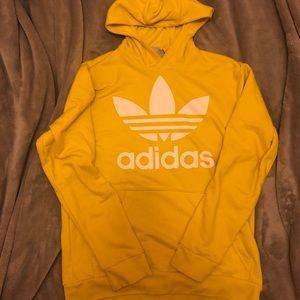 Yellow Adidas Trefoil Hoodie